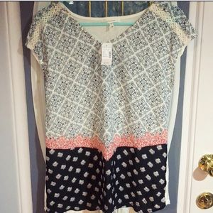 NWT Maurice's Top with lots of detail!